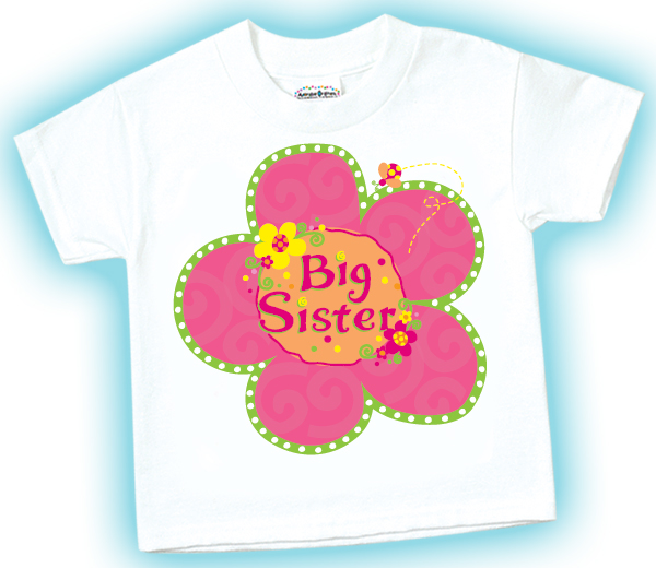 Big Sister Flower Shirt