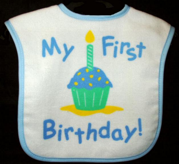 Boys First Birthday Bibs
