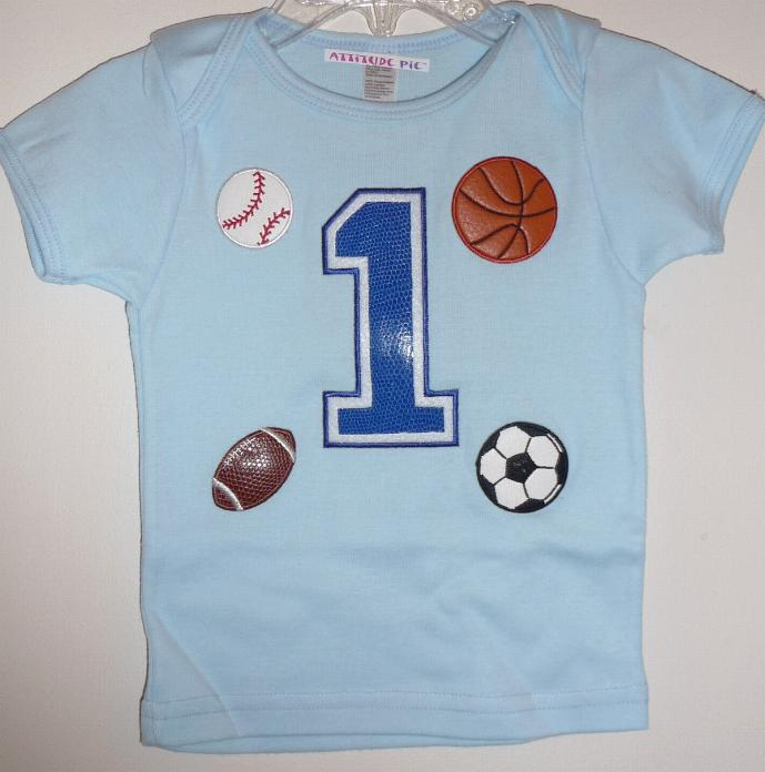 Boys Sport First Birthday Shirt