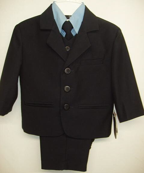 Toddler Boy Navy and Blue Suit
