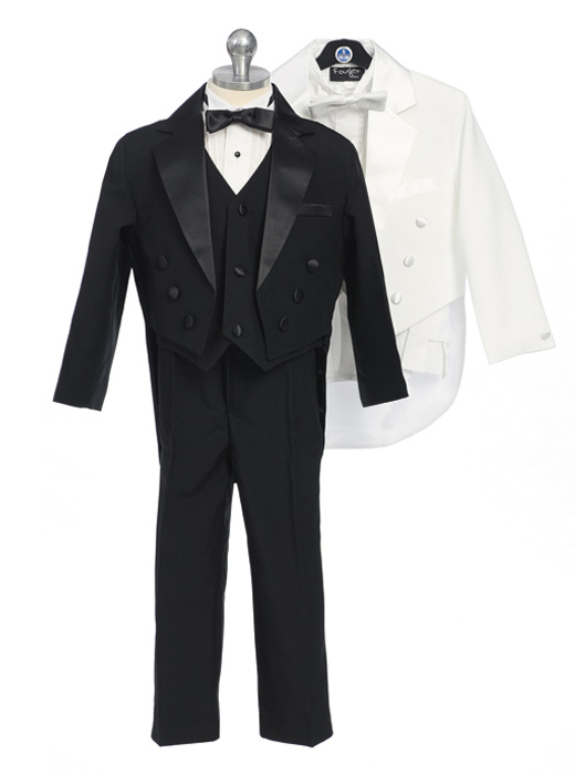 Young Mens Tuxedo with Tails and Vest