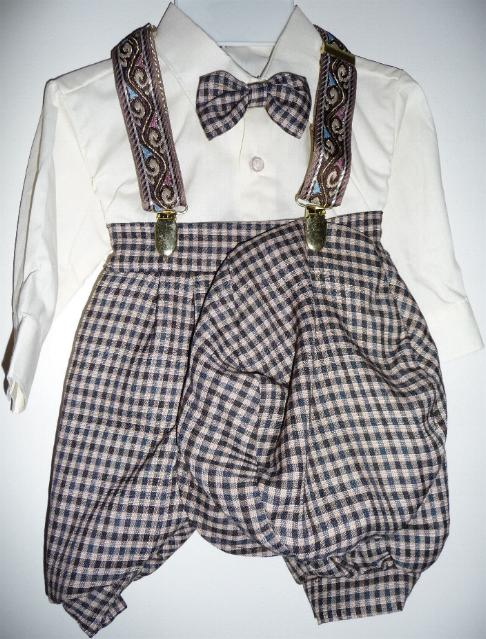 Baby or Infant Checkered Knicker Suit