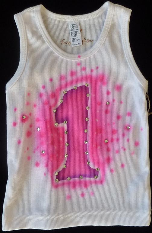Hot Pink First Birthday Tank Top