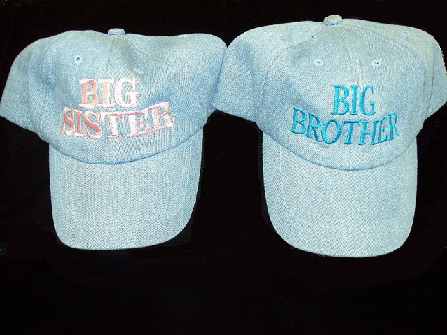 Big Brother Big Sister Hats