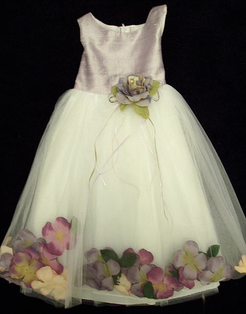Lavender Silk Flower Girl Dress