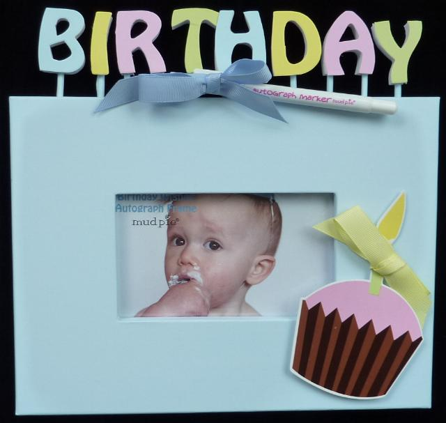 Autograph First Birthday Frame