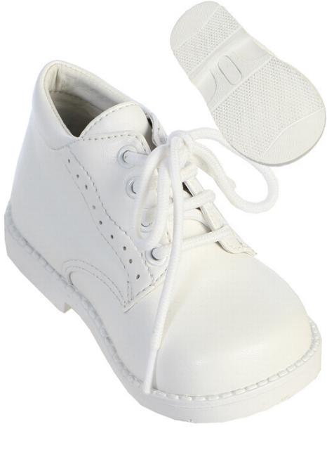 baby boys white dress shoes