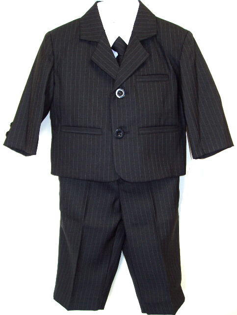 Baby and Infant Black Pinstripe Suit
