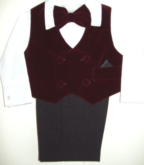 Baby and Infant Burgundy Suit