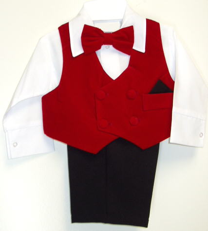 Baby and Infant Red Holiday Suit