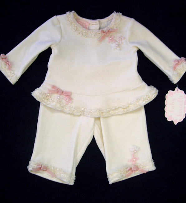 Baby Biscotti Ivory Outfit