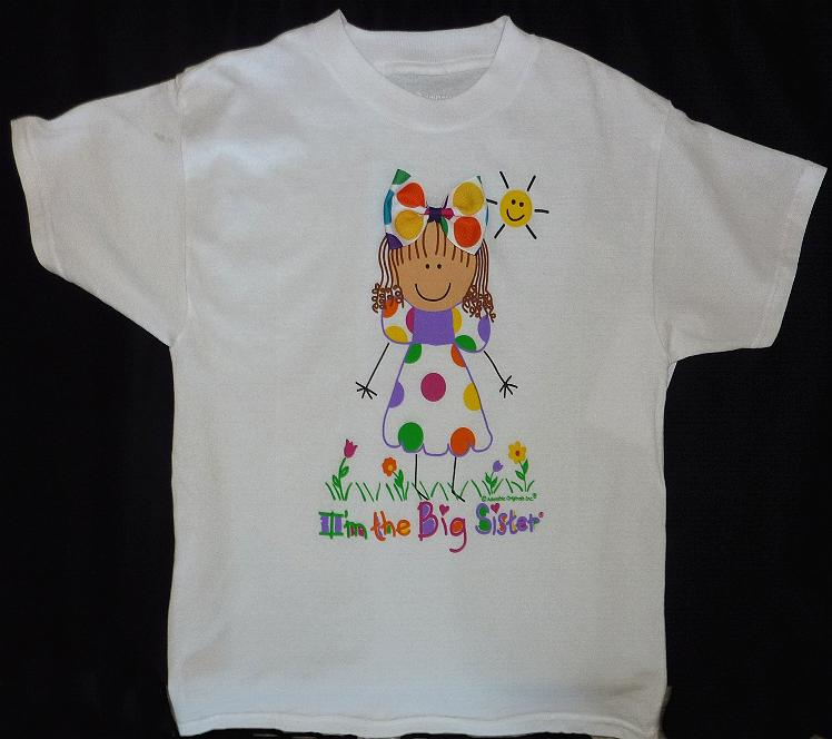 Dark Hair Big Sister Shirt