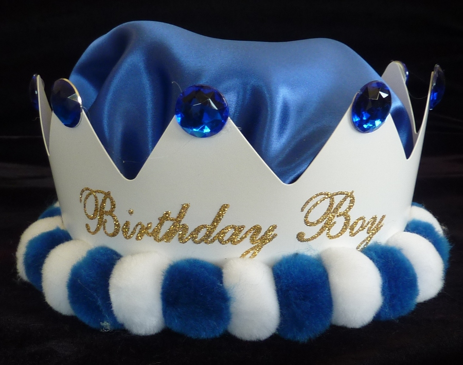 Birthday Boy Royal Blue Crown