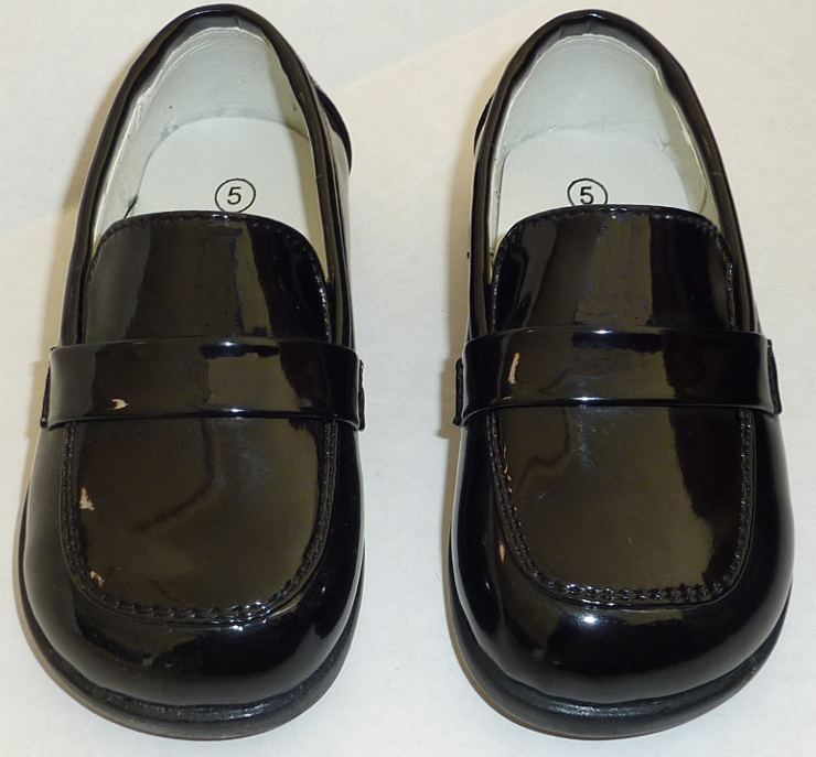 Boys Slip On Black Dress Shoes