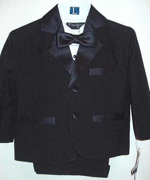 Baby and Infant Black Tuxedo with Shorts