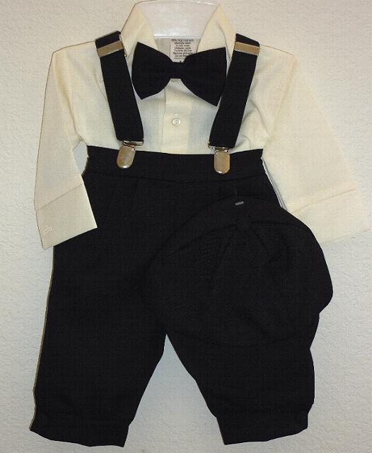 Baby and Infant Black Knicker Suit