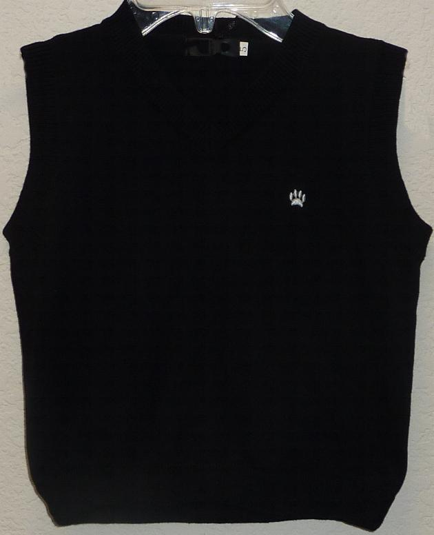 Boys Black Sweater Vest