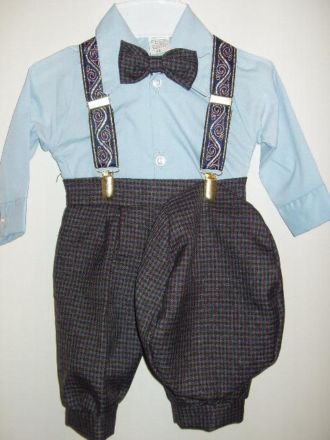 Toddler Boy Blue Knicker Suit