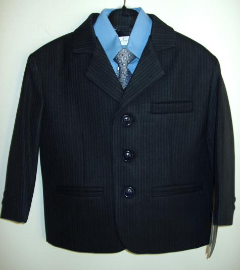 Toddler Boy Blue Striped Suit