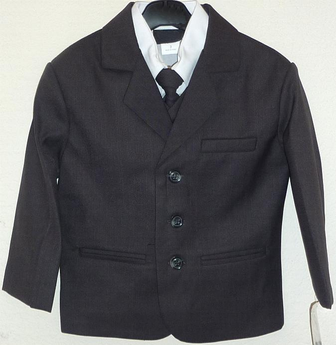 Toddler Boy Charcoal Suit