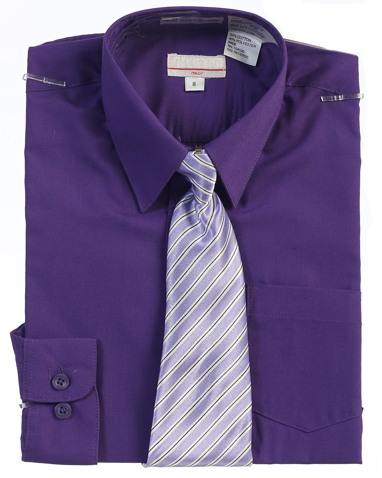 Boys Dark Purple Dress Shirt