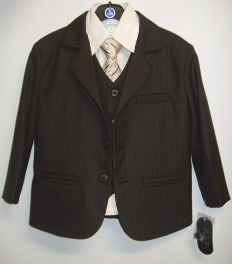 Toddler Boy Fancy Brown Suit