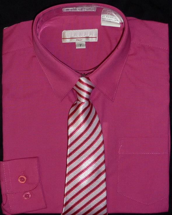 Boys Fuschia Dress Shirt