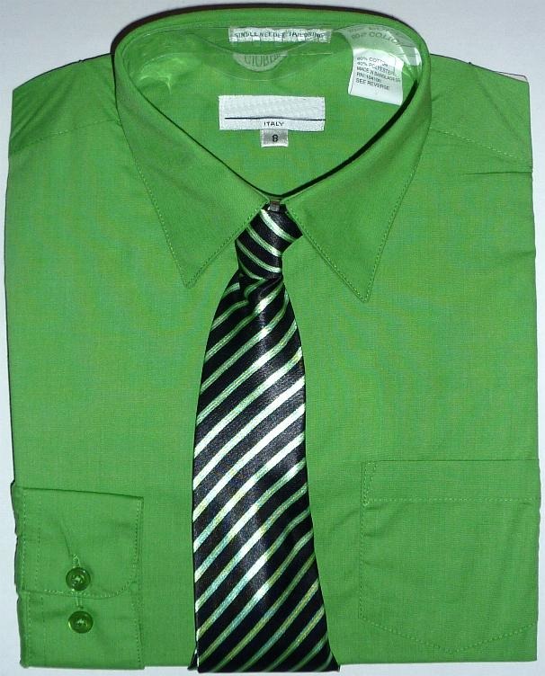 Boys Green Dress Shirt