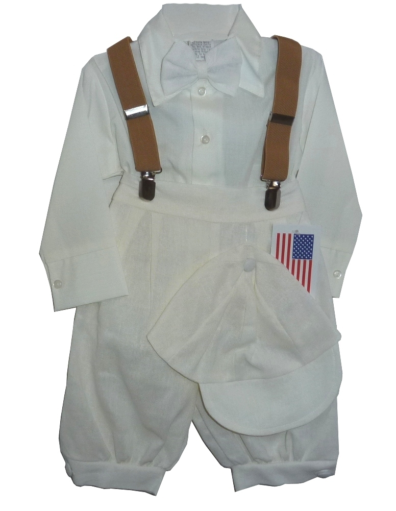Baby Boys Ivory Knicker Suit