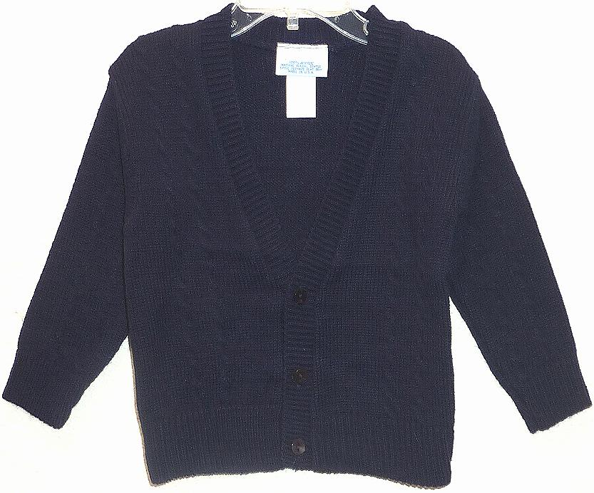 Toddler Boys Navy Blue Sweater