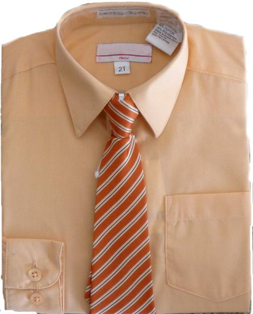 Boys Peach Dress Shirt