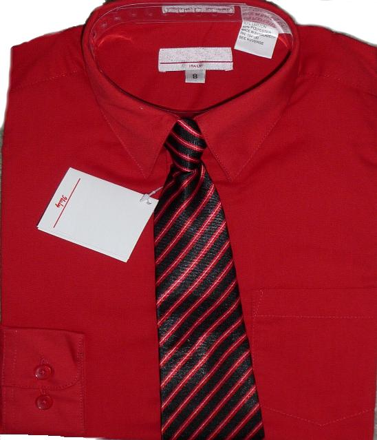 57cf4986374 Boys Red Dress Shirt