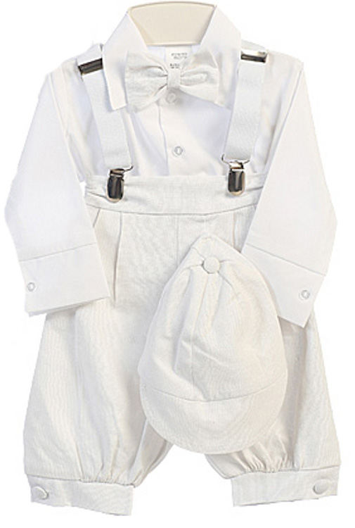 9400ca9ca7f5 Baby Boys White Knicker Suit