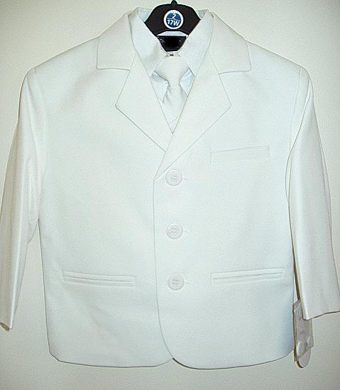 Toddler Boys White Suit