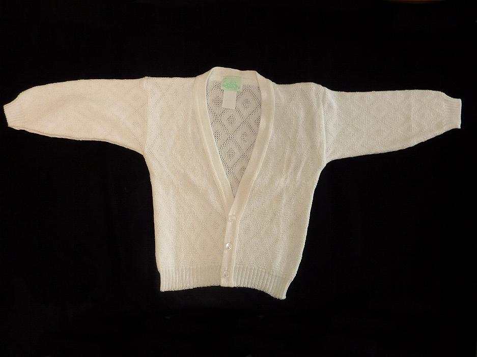 Boys White Sweater