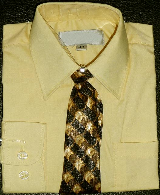 Boys Yellow Dress Shirt