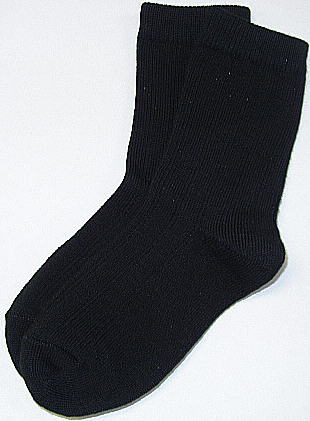 Boys Black Dress Socks