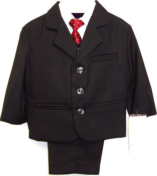 Young Mens Black Suit