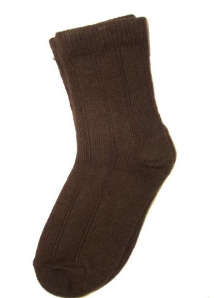 Boys Brown Dress Socks