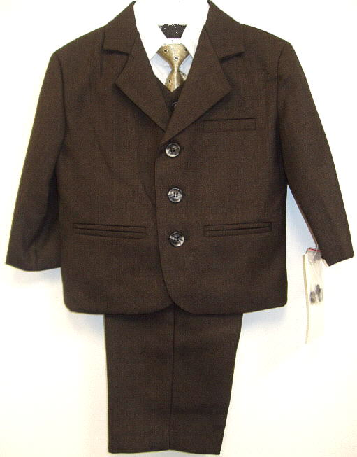 Young Mens Brown Suit