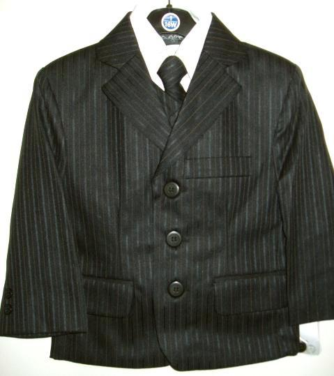 Young Mens Fancy Black Suit