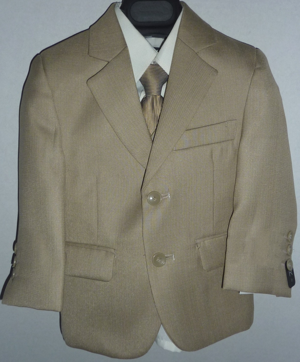 Toddler Boy Fancy Tan Suit