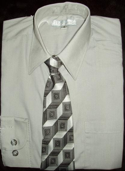 Boys Grey Dress Shirt