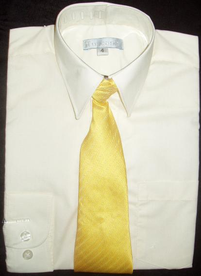 Boys Ivory Dress Shirt