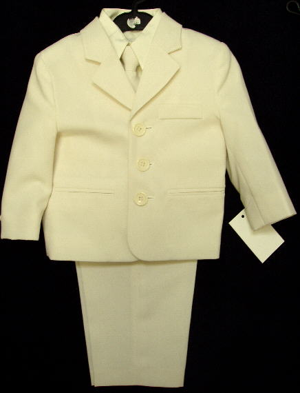 Toddler Boy Ivory Suit