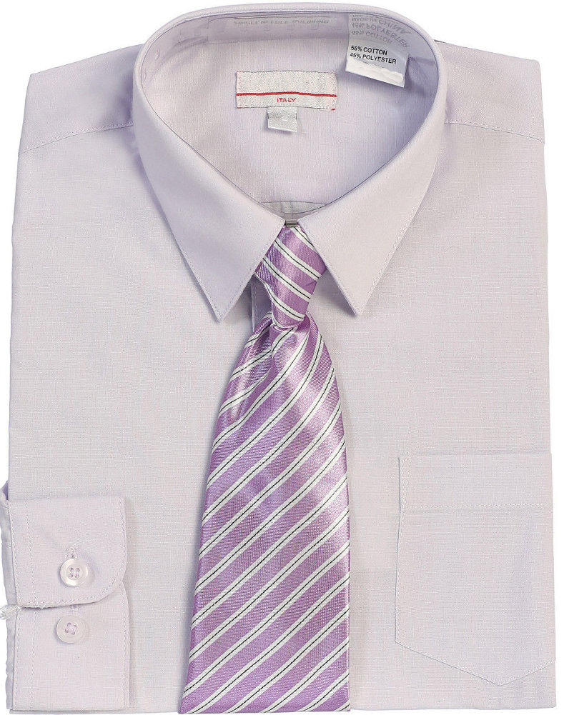 Boys Lilac Dress Shirt