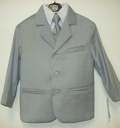 Toddler Boy Light Grey Suit