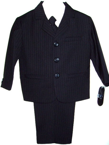 Young Mens Navy Pinstripe Suit