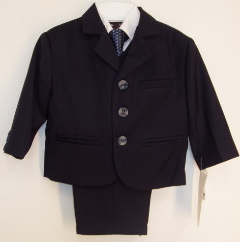 Toddler Boy Navy Blue Suit