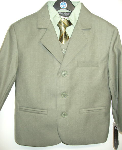 Young Mens Sage Suit